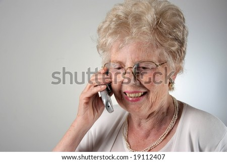 senior woman at telephone
