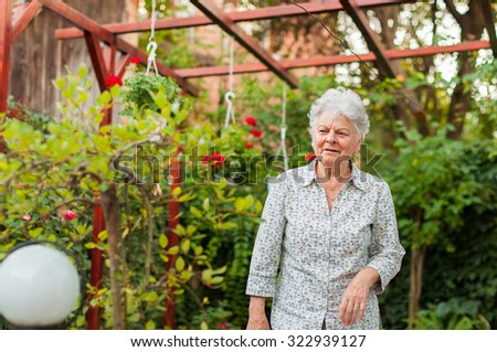 Senior woman in the garden