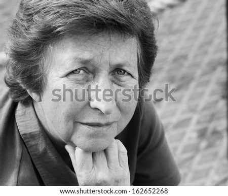Senior woman portrait outdoor