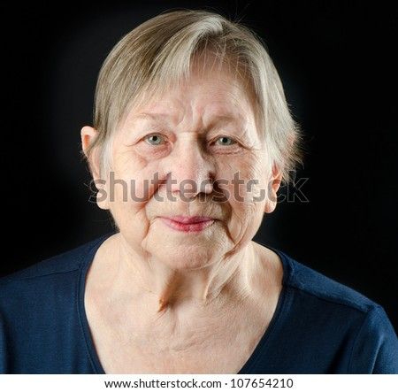 Senior woman's portrait - stock photo