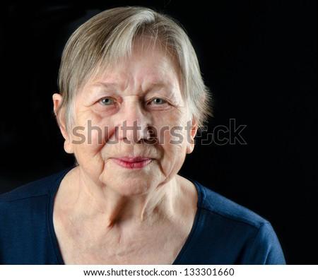 Senior woman's portrait - stock photo