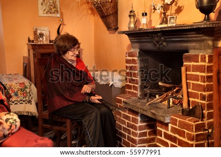 Sitting In Fireplace Stock Photos, Royalty-Free Images & Vectors ...