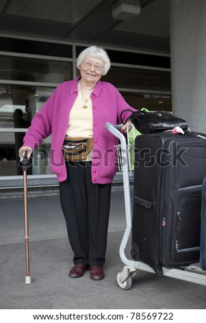 Senior woman travelling