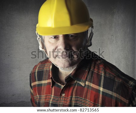 Senior worker - stock photo