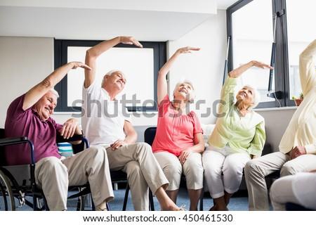 Senior exercises at home