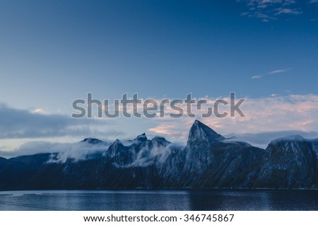 Senja mountain range, Segla peak