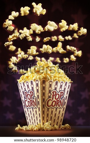 Sensational american popcorn spiral - stock photo