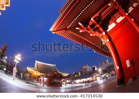 Senso-ji Temple, Asakusa, Tokyo, Japan - stock photo