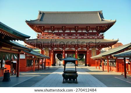 Sensoji Temple in Tokyo Japan. - stock photo