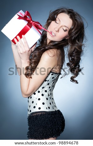 Sensual birthday-girl - stock photo