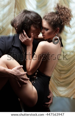 Sensual couple loving sex.