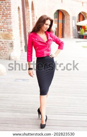Sensual elegant woman  - stock photo