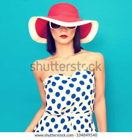 sensual girl summer - stock photo