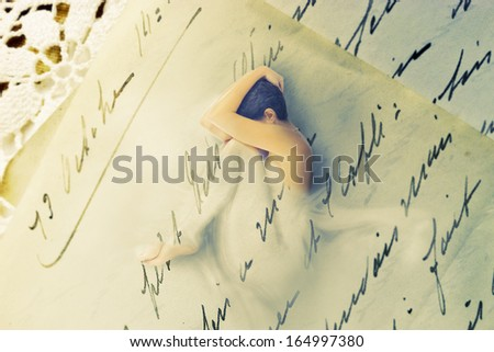 Sensual letter-photomanipulation - stock photo