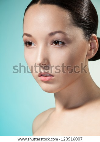 Sensual portrait of asian young woman