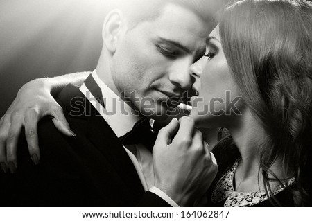 Sensual portrait of cute couple