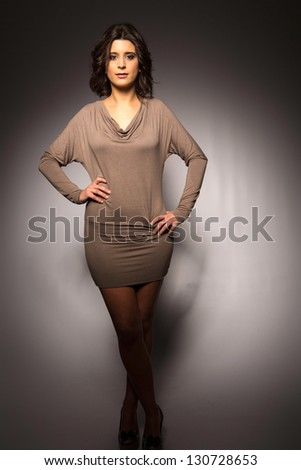 Sensual studio shot of a beautiful young woman