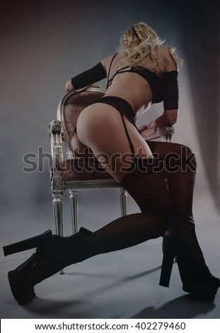 sensual woman in sexy lingerie