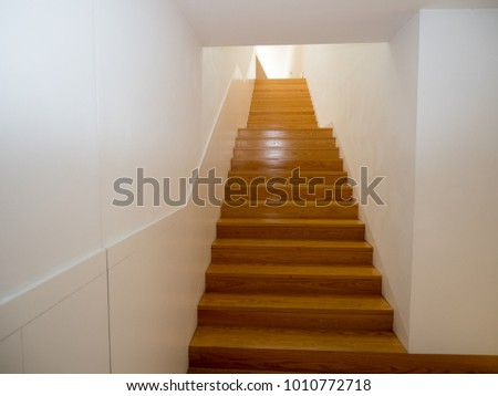 Sensual wooden staircase