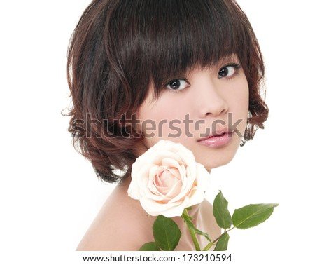 Sensuality portrait of beautiful girl  - stock photo