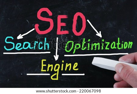 seo concept - stock photo