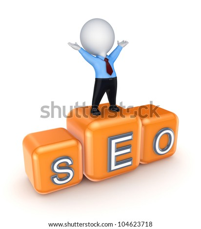 SEO concept.Isolated on white background.3d rendered.