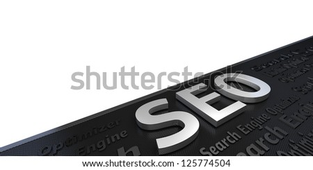 Seo Concept Title (isolated on white and clipping path) - stock photo