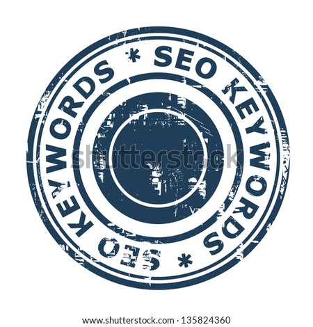SEO keywords concept stampconcept stamp isolated on a white background. - stock photo