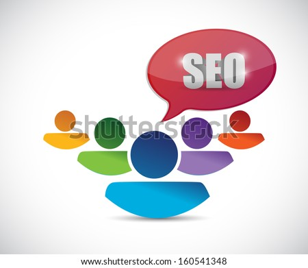 seo message people illustration design over a white