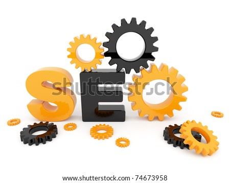 SEO optimization. 3D illustration. Isolated on a white background - stock photo