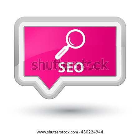 Seo pink banner button - stock photo