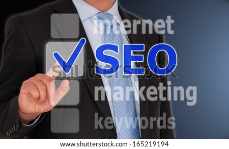 SEO - Search Engine Optimization - stock photo