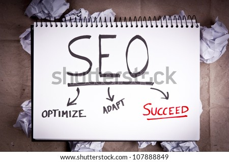SEO - search engine optimization - flow chart concept for adaption and success for blogging and internet websites