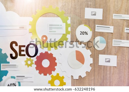 SEO services concept for web banner.