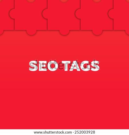 SEO TAGS - stock photo
