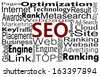 SEO words. Search Engine Optimization concept in word cloud - stock vector