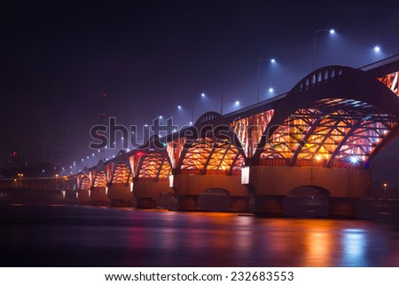 seongsan bridge in korea