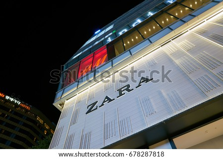 SEOUL, SOUTH KOREA - CIRCA MAY, 2017: Zara stpre in Seoul.