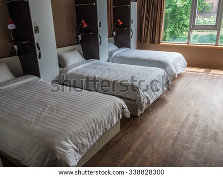SEOUL, SOUTH KOREA - JUL 28: The guest room of YD Residence in Seoul, South Korea on July 28, 2014. Seoul is the capital and largest metropolis of South Korea.