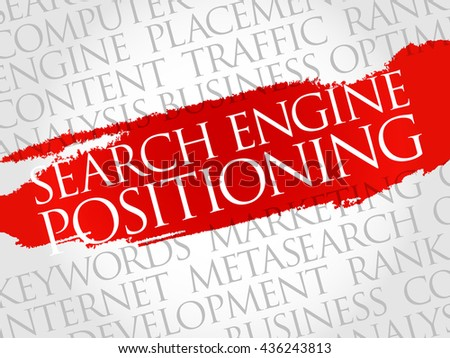 SEP - search engine positioning word cloud, business concept
