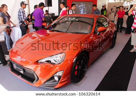 SEPANG, MALAYSIA - JUNE 10: Toyota FT-86 on display during Japan GT on June 10, 2012 at the Sepang F1 Circuit in Sepang, Malaysia.