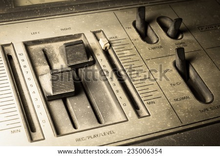 Sepia color filtered of radio sound equipment. - stock photo