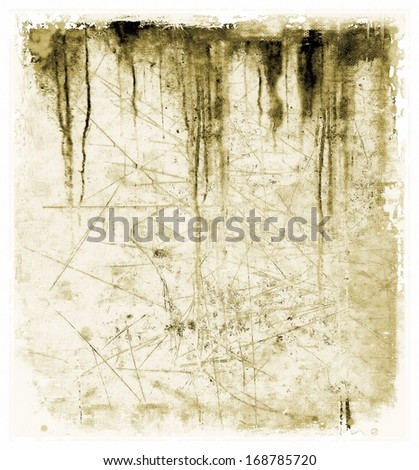 Sepia dripping texture background - stock photo