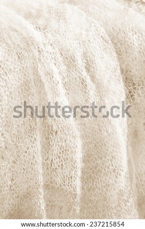 Sepia knitted texture  background - stock photo