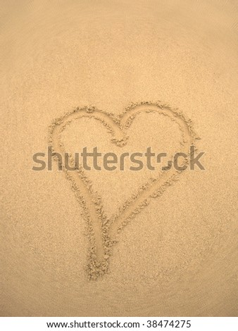 Sepia Love Heart Sign