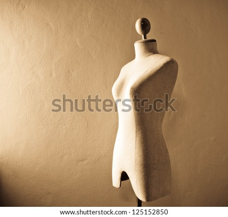 Sepia of Clothing mannequin
