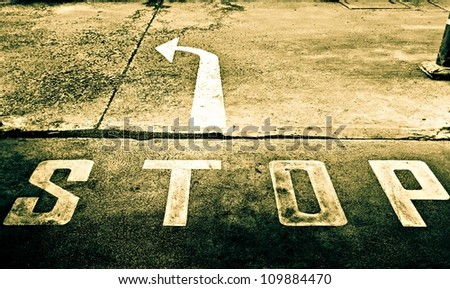 Sepia of directional street sign - stock photo