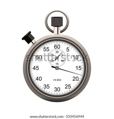 Sepia Stopwatch isolated on white background - stock photo