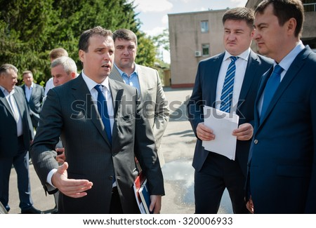 September 7, 2015. Cherkasy region, Ukraine. Minister of Economic Development and Trade of Ukraine Aivaras Abromavicius.