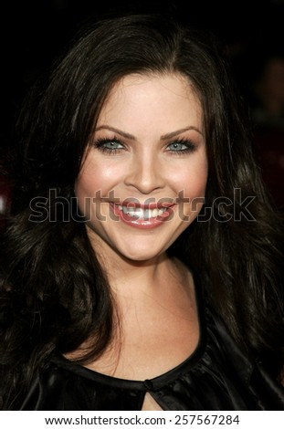 """September 6, 2006. Christa Campbell attends the Los Angeles Premiere of """"The Black Dahlia"""" held at the Academy of Motion Picture Arts and Sciences in Beverly Hills, California United States.  - stock photo"""